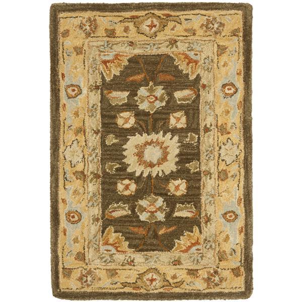 Safavieh Anatolia Floral Rug - 2' x 3' - Wool - Brown