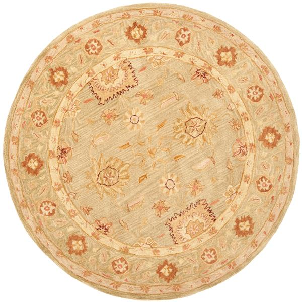 Safavieh Anatolia Floral Rug - 4' x 4' - Wool - Sage
