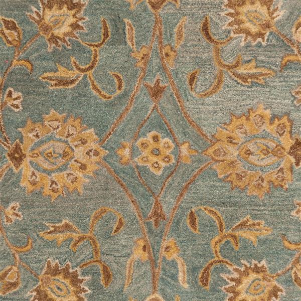 Safavieh Anatolia Floral Rug - 3' x 5' - Wool - Blue