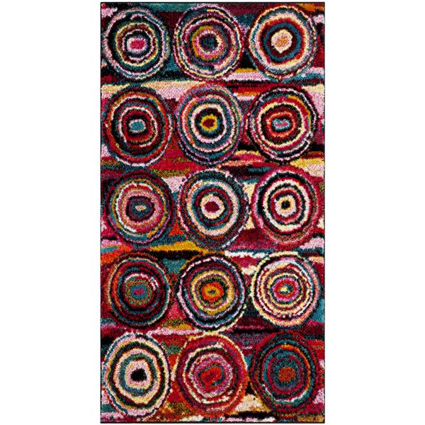 Safavieh Aruba Abstract Rug - 2.6' x 5' - Polypropylene - Multicolour