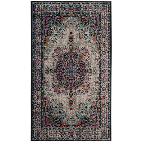 Safavieh Artisan Floral Rug - 3' x 5' - Polypropylene - Gray