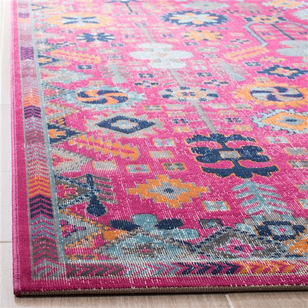 Safavieh Artisan Floral Rug - 2.2' x 8' - Polypropylene - Fuschia