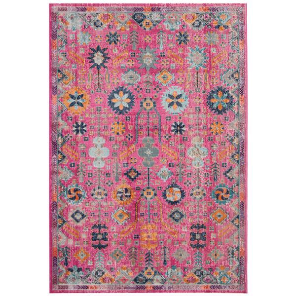 Safavieh Artisan Floral Rug - 4' x 6' - Polypropylene - Fuschia