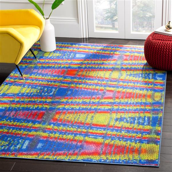 Safavieh Aztec Abstract Rug - 4' x 6' - Polypropylene - Multicolour