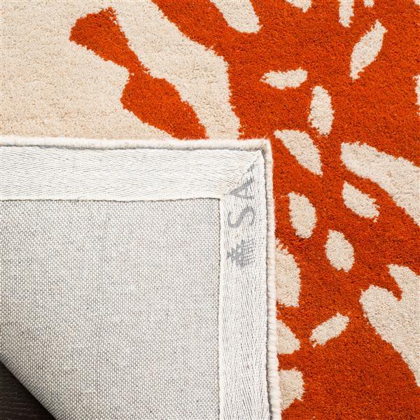 Safavieh Bella Floral Rug - 2.3' x 7' - Wool - Terracotta