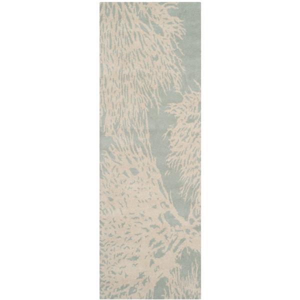 Safavieh Bella Floral Rug - 2.3' x 7' - Wool - Gray