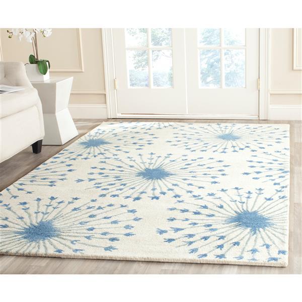Safavieh Bella Floral Rug - 3' x 5' - Wool - Blue
