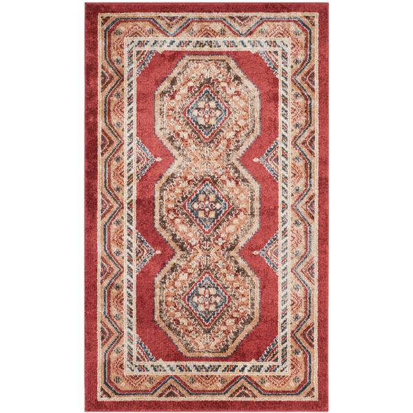 Safavieh Bijar Floral Rug - 3' x 5' - Polypropylene - Red