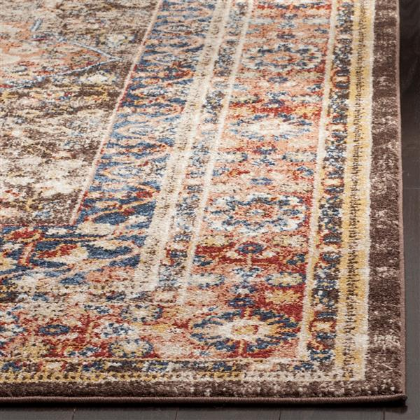 Safavieh Bijar Floral Rug - 2.3' x 8' - Polypropylene - Brown