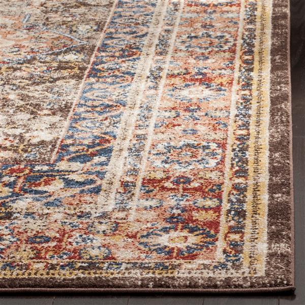 Safavieh Bijar Floral Rug - 3' x 5' - Polypropylene - Brown