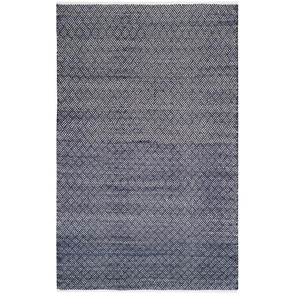 Safavieh Boston Geometric Rug - 4' x 6' - Cotton - Navy Blue