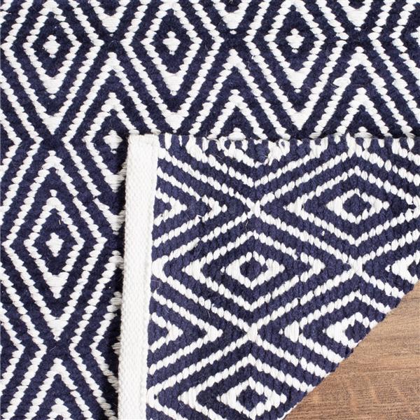 Safavieh Boston Geometric Rug - 2.5' x 4' - Cotton - Navy Blue
