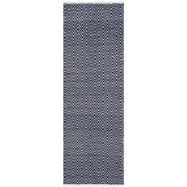 Safavieh Boston Geometric Rug - 2.3' x 11' - Cotton - Blue