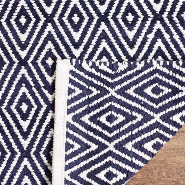 Safavieh Boston Geometric Rug - 2.3' x 9' - Cotton - Blue