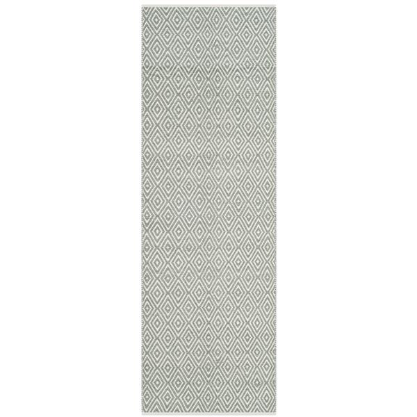 Safavieh Boston Geometric Rug - 2.3' x 11' - Cotton - Gray