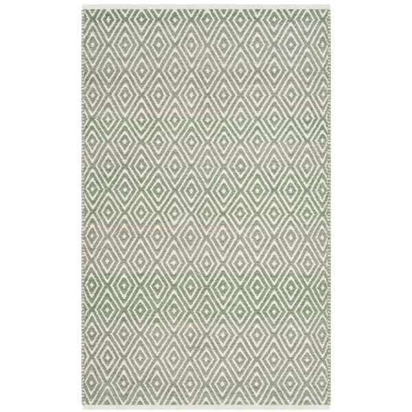Safavieh Boston Geometric Rug - 2.5' x 4' - Cotton - Gray