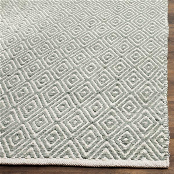Safavieh Boston Geometric Rug - 4' x 4' - Cotton - Gray