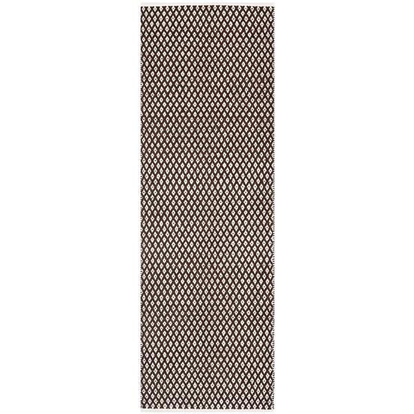 Safavieh Boston Geometric Rug - 2.3' x 7' - Cotton - Brown