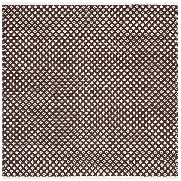 Safavieh Boston Geometric Rug - 4' x 4' - Cotton - Brown