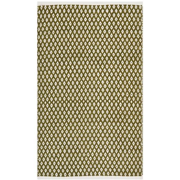 Safavieh Boston Geometric Rug - 2.5' x 4' - Cotton - Green