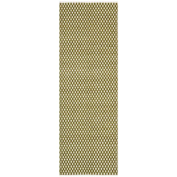 Safavieh Boston Geometric Rug - 2.3' x 7' - Cotton - Green