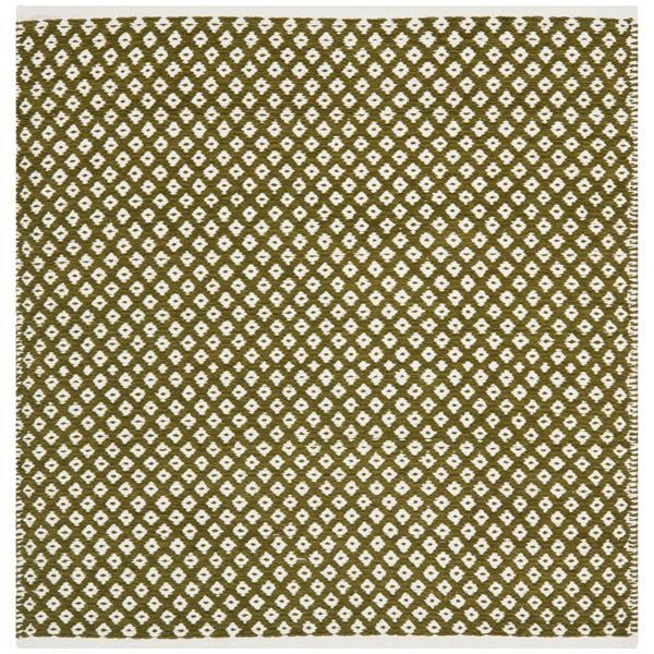 Safavieh Boston Geometric Rug - 4' x 4' - Cotton - Green
