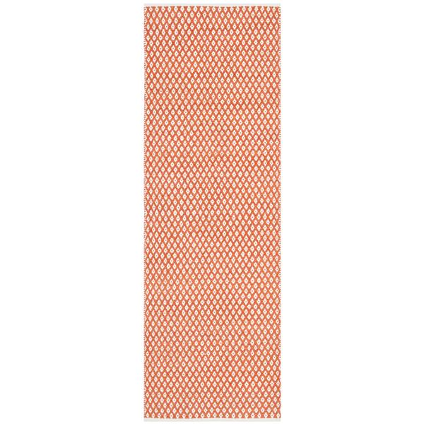 Safavieh Boston Geometric Rug - 2.3' x 7' - Cotton - Orange