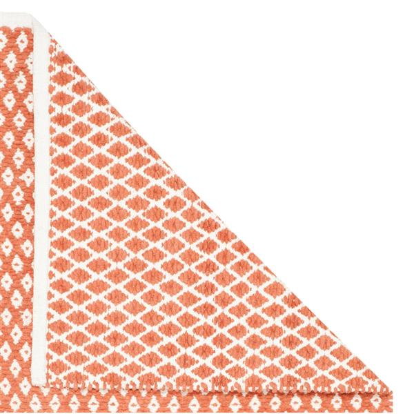Safavieh Boston Geometric Rug - 4' x 4' - Cotton - Orange