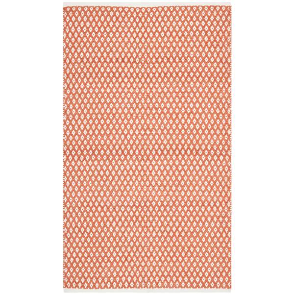 Safavieh Boston Geometric Rug - 3' x 5' - Cotton - Orange