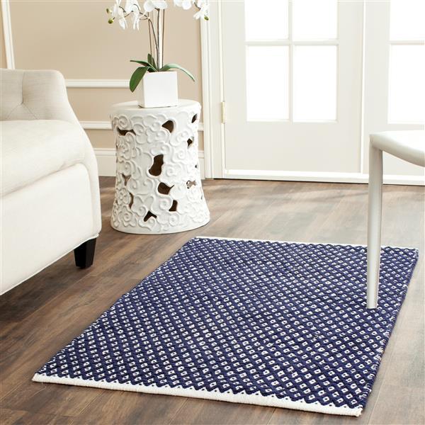 Safavieh Boston Geometric Rug - 2.5' x 4' - Cotton - Blue