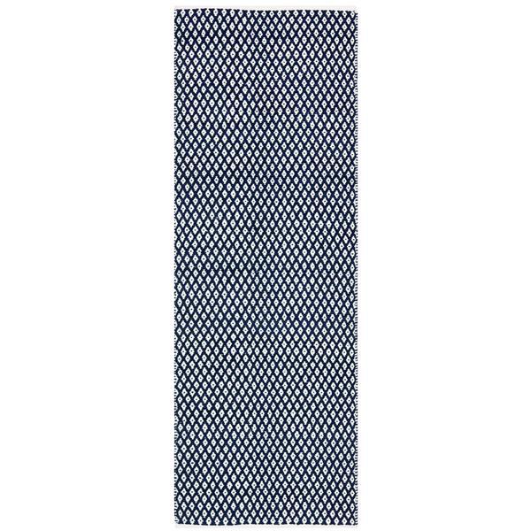 Safavieh Boston Geometric Rug - 2.3' x 9' - Cotton - Blue
