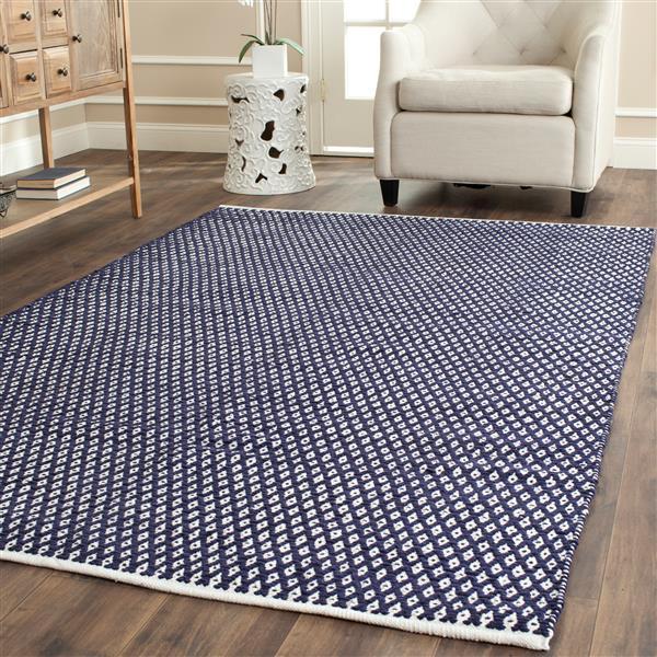 Safavieh Boston Geometric Rug - 4' x 4' - Cotton - Blue