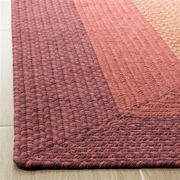 Safavieh Braided Rug - 2.3' x 6' - Cotton - Multicolour
