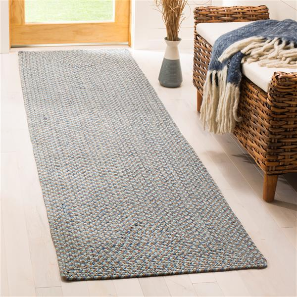 Safavieh Braided Rug - 2.3' x 8' - Cotton - Multicolour