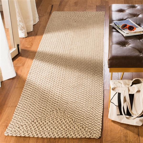 Safavieh Braided Rug - 2.3' x 8' - Cotton - Brown
