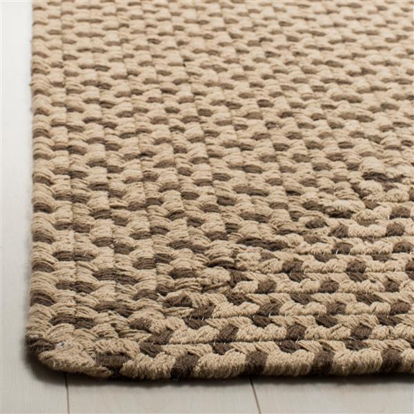Safavieh Braided Rug - 6' x 6' - Cotton - Brown