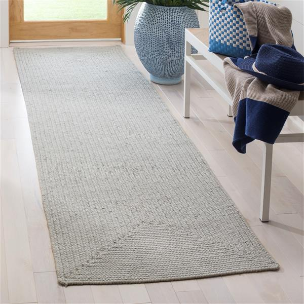 Safavieh Braided Rug - 2.3' x 8' - Cotton - Blue