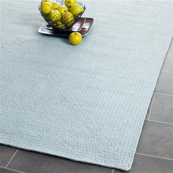 Safavieh Braided Rug - 4' x 6' - Cotton - Blue