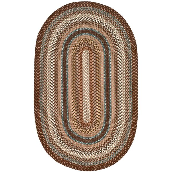 Safavieh Braided Stripe Rug - 4' x 6' - Cotton - Brown