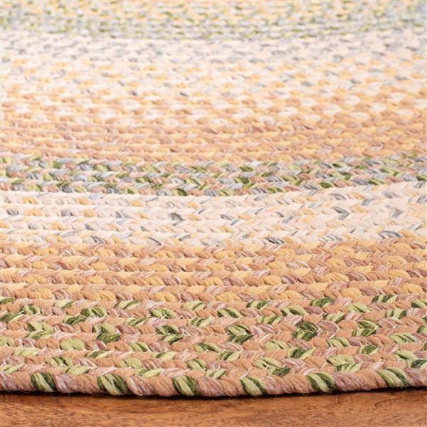 Safavieh Braided Stripe Rug - 3' x 5' - Cotton - Brown