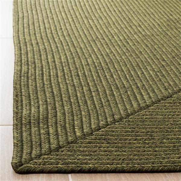 Safavieh Braided Rug - 2.3' x 6' - Cotton - Green