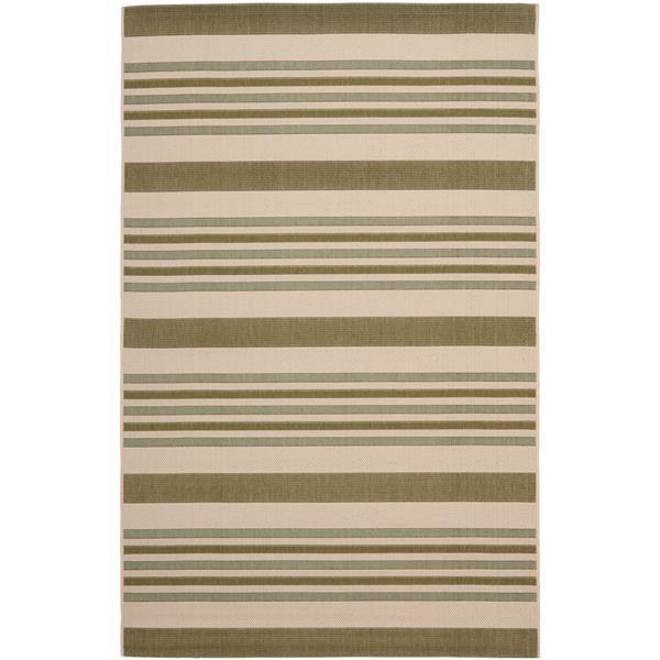 Safavieh Courtyard Stripe Rug - 8' x 11' - Polypropylene - Green