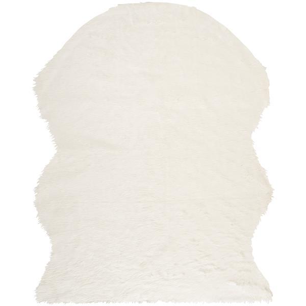 Safavieh Faux Sheep Skin Rug - 8' x 10' - Acrylic - Ivory