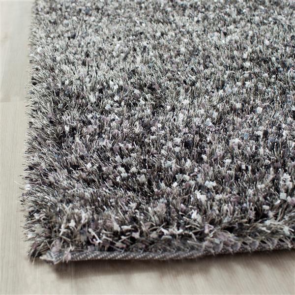 Safavieh Malibu Shag Solid Rug - 8' x 10' - Polyester - Charcoal