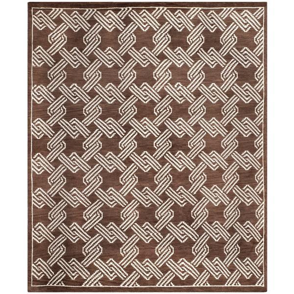 Safavieh Mosaic Geometric Rug - 8' x 10' - Wool - Brown