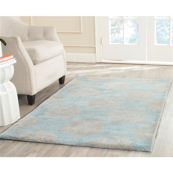 Safavieh Soho Rug - 7.5' x 9.5' - Wool - Turquoise/Yellow