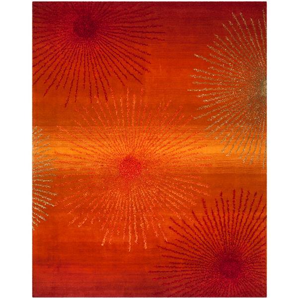 Safavieh Soho Abstract Rug - 7.5' x 9.5' - Wool - Rust