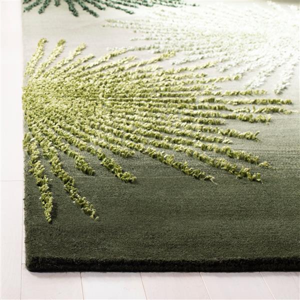Safavieh Soho Abstract Rug - 7.5' x 9.5' - Wool - Green
