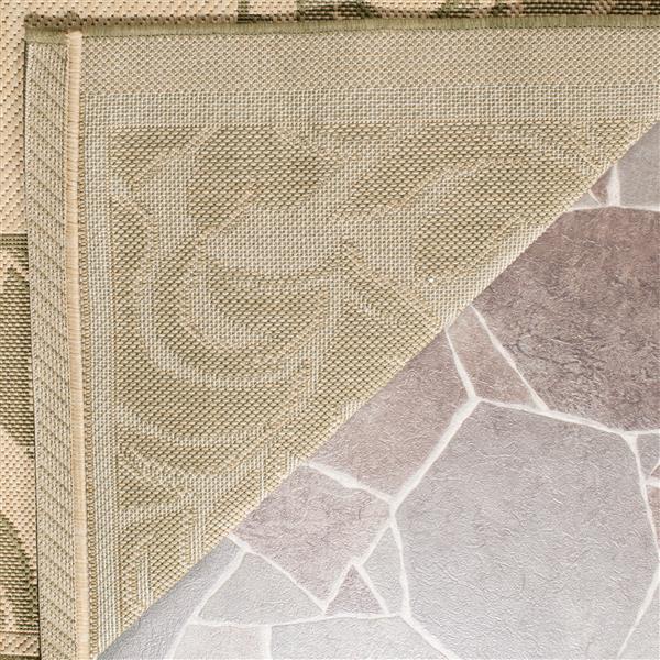 Safavieh Courtyard Rug - 2.3' x 6.6' - Polypropylene - Olive/Natural