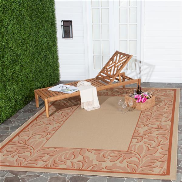 Safavieh Courtyard Rug - 5.3' x 7.6' - Polypropylene - Terracotta